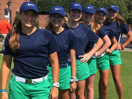 Girls Golfers Finish Third in Lady Patriot to Earn First Trophy