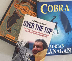 Adrian Flanagan is a sculptor of beautiful bronze wildlife sculptures and he is also a round-the-world sailor and author. Here are three of his books titled 'The Cape Horners' Club', 'Over The Top' and 'Cobra'.