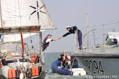 Adrian Flanagan arrives home at the end of the Alpha Global Expedition, his singlehanded round-the-world voyage, to be greeted by the Royal Navy with a cup of tea. Adrian now works as a sculptor creating beautiful bronze sculptures of wildlife in their natural habitats.