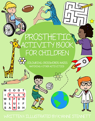 Prosthetic Activity Book For Children (LAMINATED)