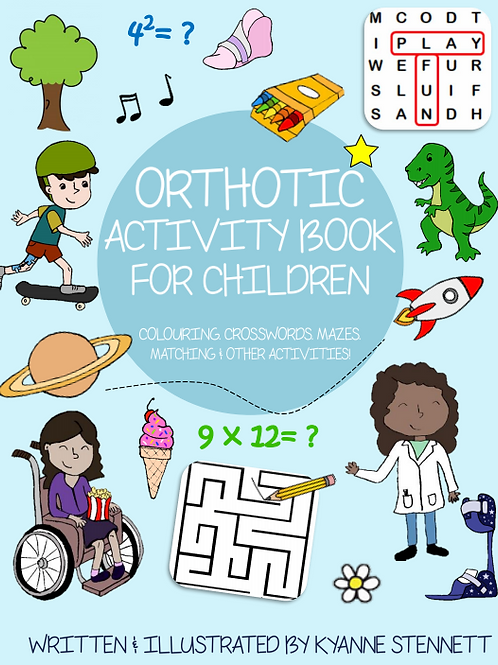 Orthotic Activity Book For Children (LAMINATED)