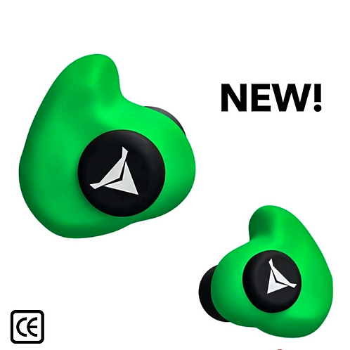 Custom Molded Earplugs - GREEN