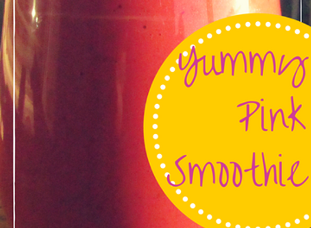 Yummy pink smoothie