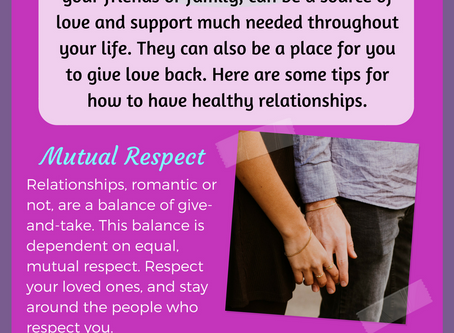 Healthy Relationship Tips (Infographic)