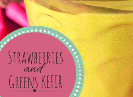 Strawberries and Greens Kefir