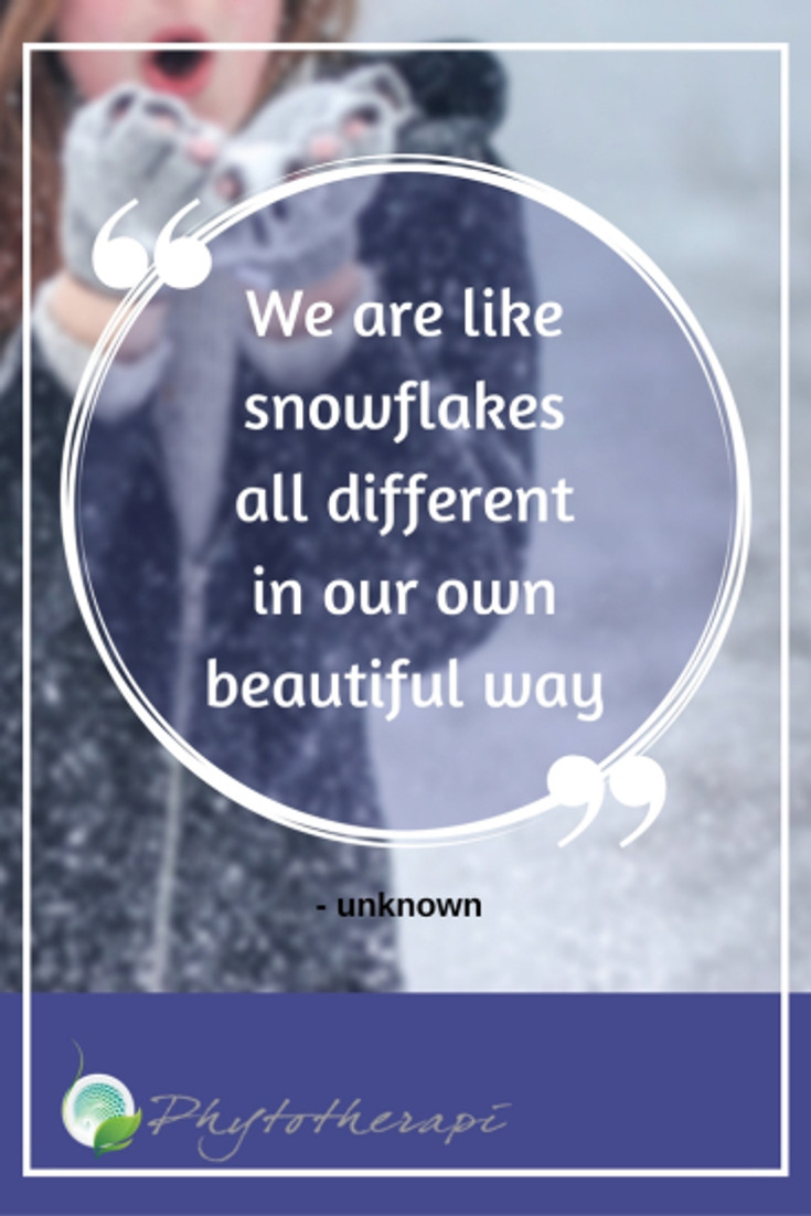 We are likesnowflakesall differentin our ownbeautiful way