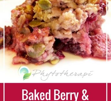 Baked Berry and Nut Oatmeal