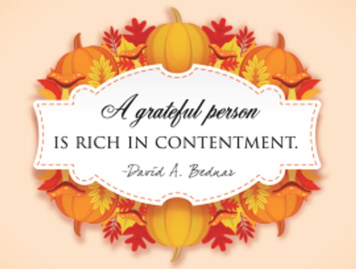 Grateful person