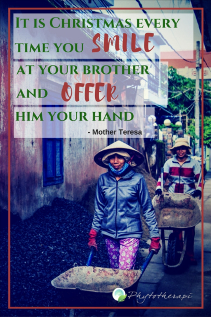 It is Christmas every time you smile at your brother and offer him your hand