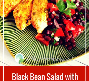 Black Bean Salad with Grilled Cilantro Chicken