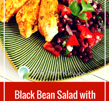Black Bean Salad with Grilled Cilantro Chicken