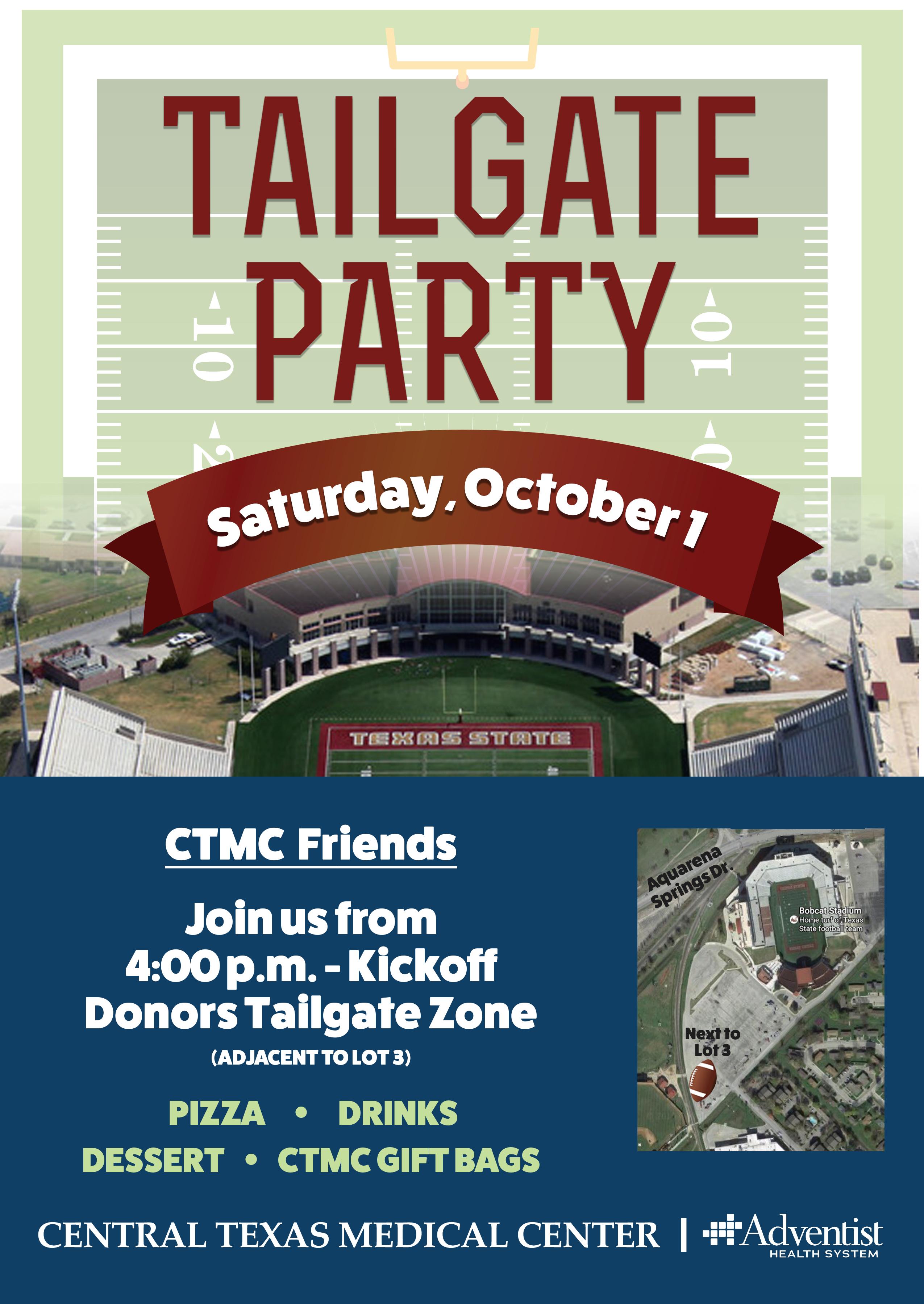 CTMC Tailgate Party Invitation
