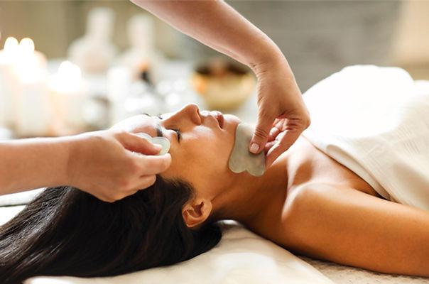 Face gua sha massage or beauty treatment