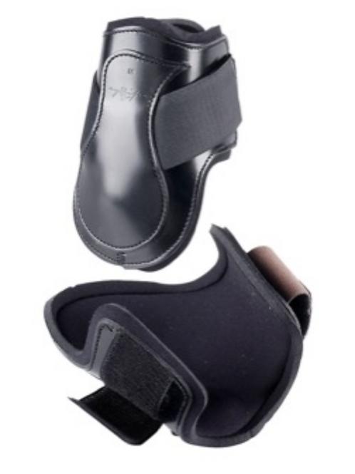 Leather fetlock boots,Black, Large