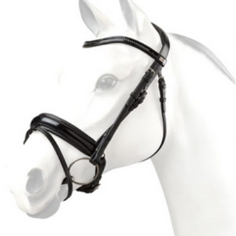 Patent Flat Snaffle Bridle with padded head piece