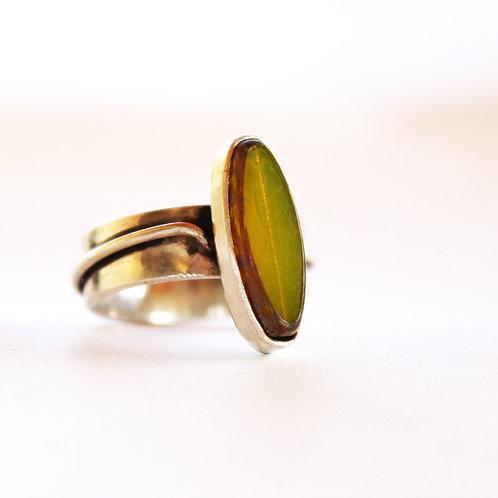 Ασημένιο δαχτυλίδι με τσέχικο γυαλί  D33