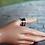Thumbnail: Ασημένιο με ημιπολύτιμη πέτρα Γρανάτη-spinner ring  D43
