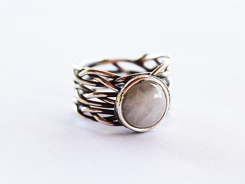 Ασημένιο δαχτυλίδι με Χαλκηδόνιο λίθο D67