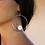 Thumbnail: Ασημένια σκουλαρίκια ,κρίκοι-sea shell stone  EA26