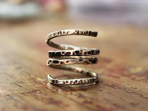 Aσημένιο δαχτυλίδι στυλ stacking rings D49
