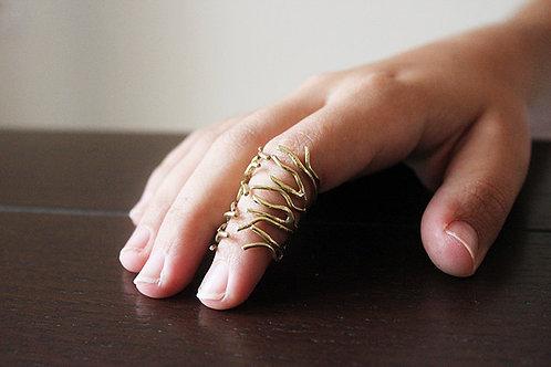 Κλαδί ασημένιο δαχτυλίδι ή χρυσός τόνος από ορείχαλκο D91