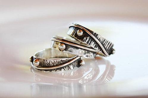 Σετ 3 Aσημένιων δαχτυλίδιών-stacking rings D20