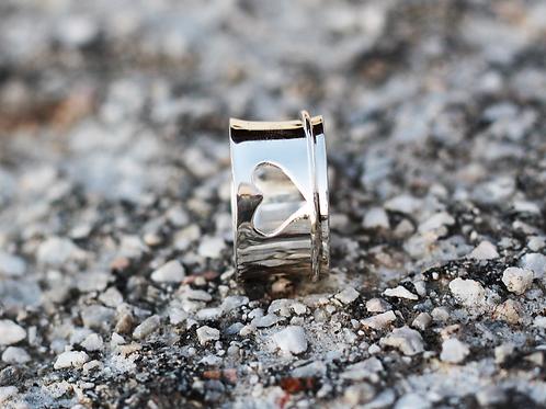 Ασημένιο δαχτυλίδι καρδιά -spinner ring D70