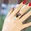 Thumbnail: Ανοιχτό Ασημένιο δαχτυλίδι με Ρουμπίνι πέτρα ,Zoisite ruby   D36