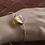 Thumbnail: Ασημένιο ανοιχτό βραχιόλι με μεγάλη Οπάλ πέτρα   B26