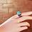 Thumbnail: Ασημένιο  δαχτυλίδι με ημιπολύτιμολίθο -Turquoise  D96