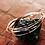 Thumbnail: Σετ από 5 Λεπτά Ασημένια σφυρήλατα βραχόλια  B13