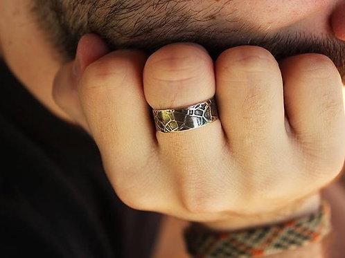 Ασημένιο δαχτυλίδι  ιδανικό και για γυναίκα αλλά και για άντρα  AD16