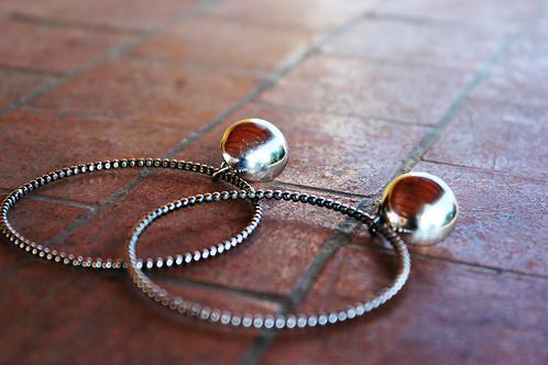 Ασημένια σκουλαρίκια ,κρίκοι EA27