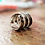 Thumbnail: Aσημένιο δαχτυλίδι στυλ stacking rings  D39