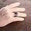 Thumbnail: Ασημένιο Unisex δαχτυλίδι -3 bands spinner ring  AD10