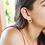 Thumbnail: Ασημένια σκουλαρίκια σφυρήλατοι κύκλοι EA15