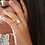 Thumbnail: Ασημένιο δαχτυλίδι καρδιές -spinner ring  D59