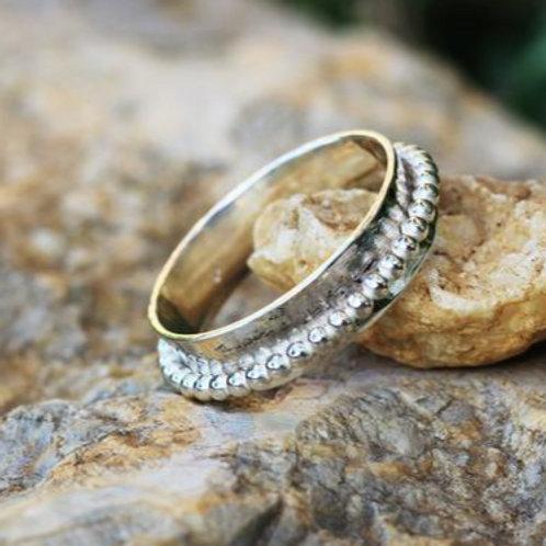 Στενό Ασημένιο δαχτυλίδι -spinner ring  D16