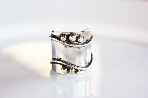 Ανοιχτό  ασημένιο δαχτυλίδι D57