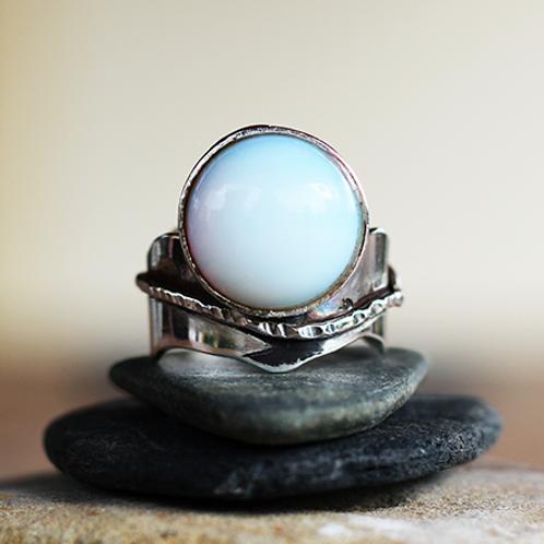Ασημένιο δαχτυλίδι με Οπάλιο πέτρα  D45