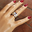 Thumbnail: Ασημένιο δαχτυλίδι με 0,8cm Οπάλιο-Spinner ring D55