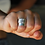 Thumbnail: Φαρδύ ασημένιο δαχτυλίδι με 7 δαχτυλίδια-spinner ring D15