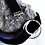 Thumbnail: Ασημένιο choker με ασημένιο κύκλο σε μαύρο βελούδο  N22
