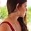 Thumbnail: Ασημένια σκουλαρίκια  tribal μισοφέγγαρο  EA10