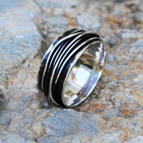 Ανδρικό  Ασημένιο δαχτυλίδι  AD18