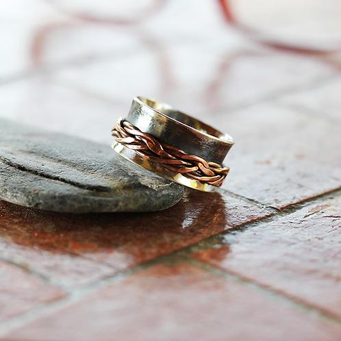 Ασημένιο δαχτυλίδι -spinner ring  AD12