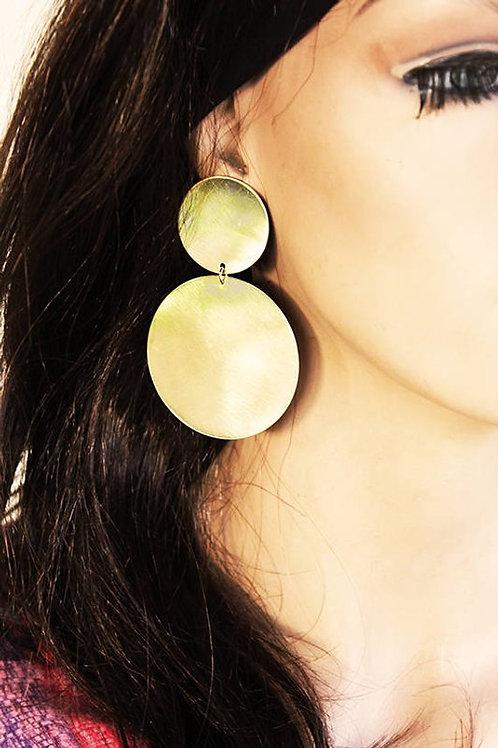 Πολύ μεγάλα σκουλαρίκια ορείχαλκου E08