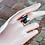 Thumbnail: Ανοιχτό Ασημένιο δαχτυλίδι με Όνυχα (black onyx)  D27