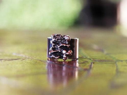 Ανοιχτό ανάγλυφο ασημένιο  δαχτυλίδι