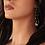 Thumbnail: Ασημένια σκουλαρίκια ,chalcedony stone  E10